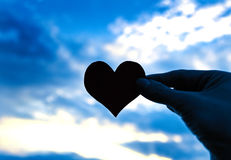 Forme de coeur sur le ciel Photographie stock