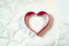 Forme de coeur sur le fond blanc Photographie stock