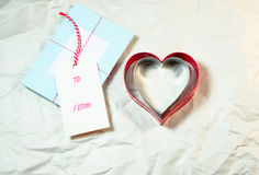Forme de coeur sur le fond blanc Photo libre de droits