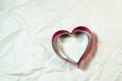 Forme de coeur sur le fond blanc Images stock