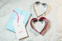Forme de coeur sur le fond blanc Photographie stock libre de droits