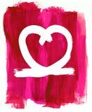 Forme de coeur sur un fond peint Images stock