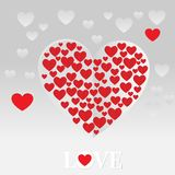 Forme de coeur de vecteur de fond de jour de valentines pour le design de carte de salutation d'amour Photo libre de droits
