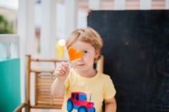 Forme de coupe de papaye du coeur smoothies La structure à plat Concept d'amour Jour du `s de Valentine Photographie stock