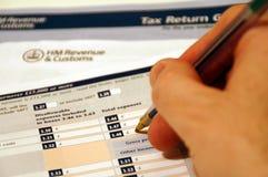 Forme de déclaration d'impôt Photographie stock libre de droits