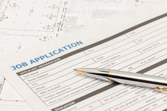 Forme de demande d'emploi Photo libre de droits