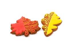 forme de feuille de biscuits image libre de droits