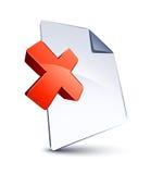 Forme de fichier et de X Photo stock