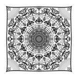 Forme de fleur de mandala pour des bannières de flayers de cartes de visite professionnelle de visite Images libres de droits
