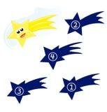 Forme de l'étoile de chute Image stock