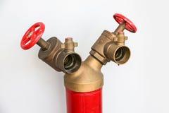 Forme de la bouche d'incendie Y sur le fond blanc Photographie stock libre de droits