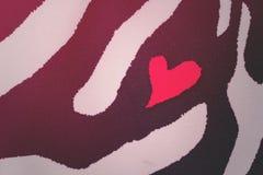 Forme de modèle de coeur et de zèbre Image libre de droits