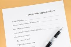 Forme de papier d'application d'emploi images stock