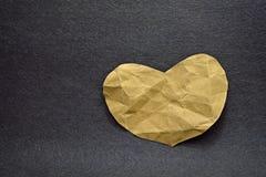 Forme de papier de coeur de pli Images libres de droits