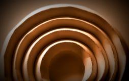 Forme de papier pliée par arc de Simpli photographie stock libre de droits