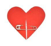 Forme de papier rouge de coeur Images libres de droits