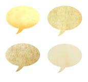 Forme de papier réutilisée comme la bulle de la parole a isolé Image libre de droits