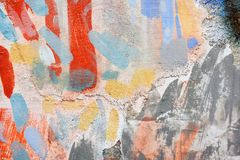 Forme de peinture de jet sur le mur images stock