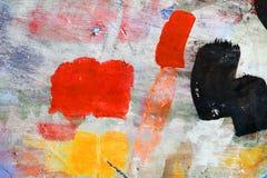 Forme de peinture de jet sur le mur photos stock