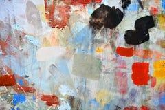 Forme de peinture de jet sur le mur photos libres de droits