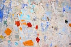 Forme de peinture de jet sur le mur photographie stock