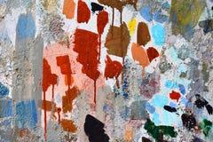 Forme de peinture de jet sur le mur photographie stock libre de droits