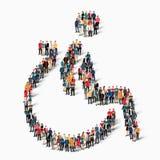 Forme de personnes de groupe invalide Images libres de droits