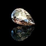 Forme de poire de gemmes de bijou Image stock