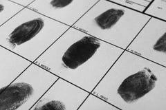 Forme de police avec des empreintes digitales Examen légal photos libres de droits