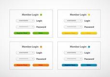 Forme de procédure de connexion de Web de vecteur Images libres de droits