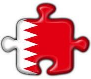 Forme de puzzle d'indicateur de bouton du Bahrain Images libres de droits