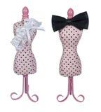 Forme de robe avec la relation étroite de proue et la courroie de jarretière Photographie stock