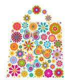 Forme de sac de fleurs illustration de vecteur