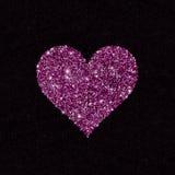 Forme de scintillement de coeur des paillettes Photographie stock libre de droits