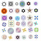 Forme de trente-six éléments de logo Image stock