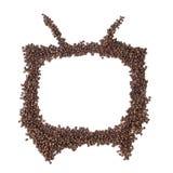 Forme de TV Photographie stock libre de droits
