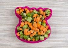 Forme de vache par de divers légumes Photographie stock libre de droits
