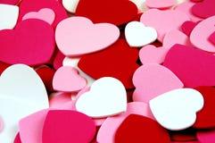 Forme del cuore del biglietto di S. Valentino Fotografia Stock Libera da Diritti