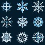 Forme del fiocco di neve Immagine Stock Libera da Diritti