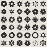 Forme del germoglio di fiore Fotografie Stock