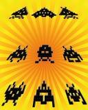 Forme del pixel Immagine Stock