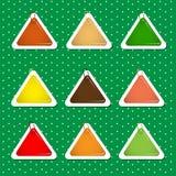 Forme dell'autoadesivo del triangolo in Autumn Colors Fotografie Stock Libere da Diritti
