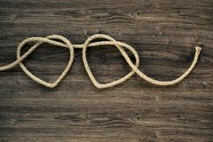 Forme della corda del cuore fotografia stock libera da diritti