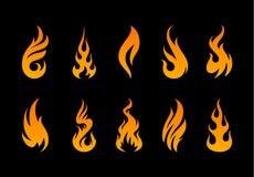 Forme della fiamma di vettore Fotografia Stock Libera da Diritti