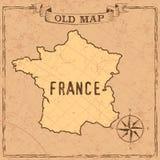 Forme delle mappe e dei paesi di vecchio stile in annata illustrazione di stock