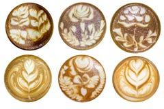 Forme di arte del Latte su fondo bianco immagini stock libere da diritti