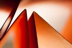 Forme di carta rosse Immagini Stock