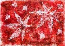 Forme di foglia sul fondo dell'acquerello Fotografia Stock