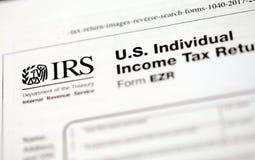 Forme di imposta degli Stati Uniti Immagini Stock Libere da Diritti