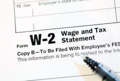 Forme di imposta degli Stati Uniti Immagini Stock